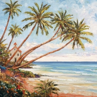 Servietten 33x33 cm - Palm Beach