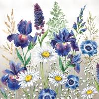 Servietten 33x33 cm - Mixed Meadow Flowers