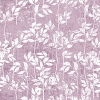 Servietten 33x33 cm - Leaves Pattern Lilac