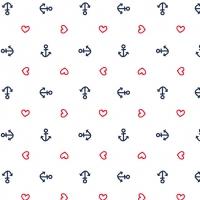 Servietten 33x33 cm - Anchor Heart White