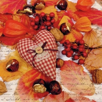 Servietten 33x33 cm - Autumn Heart