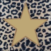 Servietten 33x33 cm - Wildlife Star Gold