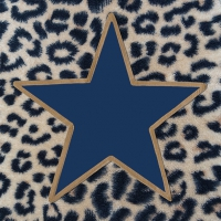 Servietten 33x33 cm - Wildlife Star Blue