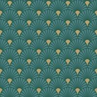 Servietten 33x33 cm - Art Deco Green/Gold