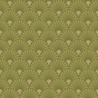 Servietten 33x33 cm - Art Deco Lime/Gold