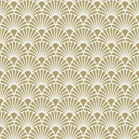 Servietten 33x33 cm - Art Deco Gold/White