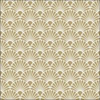 Servietten 33x33 cm - Art Deco Gold/White