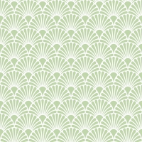 Servietten 33x33 cm - Art Deco Green