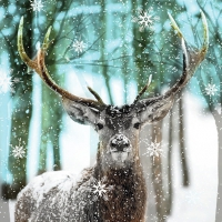 Servietten 33x33 cm - Winter Deer