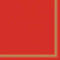 Servietten 33x33 cm - Lea Red