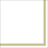Servietten 33x33 cm - Lea White/Gold