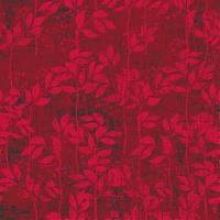 Servietten 33x33 cm - Leaves Pattern Berry