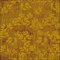 Servietten 33x33 cm - Leaves Pattern Yellow