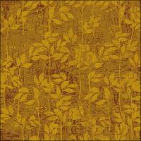 Servietten 33x33 cm - Leaves Pattern Yellow
