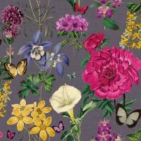 Servietten 33x33 cm - Botanical Florals Grey