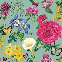 Servietten 33x33 cm - Botanical Florals Green