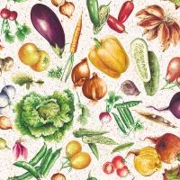 Servietten 33x33 cm - Vegetables
