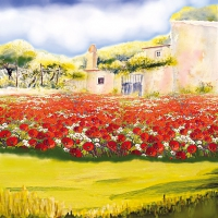 Servietten 33x33 cm - Poppy Garden