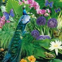 Servietten 33x33 cm - Blue Peacock