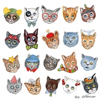 Servietten 33x33 cm - Funny Cats