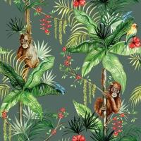 Servietten 33x33 cm - Orangutan Green