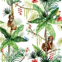 Servietten 33x33 cm - Orangutan White