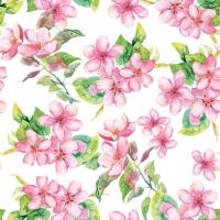 Servietten 33x33 cm - Cherry Blossom Rose