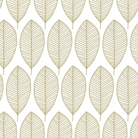 Servietten 33x33 cm - Oval Leaves Gold