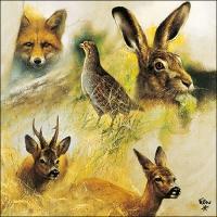 Servietten 33x33 cm - Wild Animals Collage