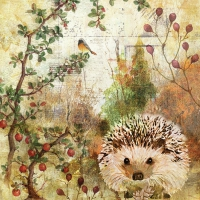 Servietten 33x33 cm - Autumn Hedgehog