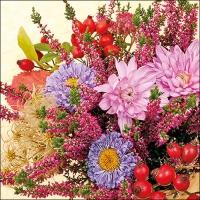 Servietten 33x33 cm - Autumn Flowers