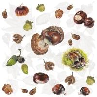 Servietten 33x33 cm - Chestnuts