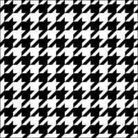 Servietten 33x33 cm - Pied-de-Poule Black/White