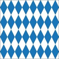 Servietten 33x33 cm - Bavarian Check