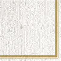 Servietten 33x33 cm - Elegance Lea White/Gold