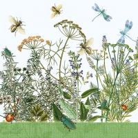 Servietten 33x33 cm - Field Flowers