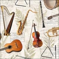 Servietten 33x33 cm - Music