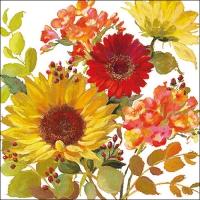 Servietten 33x33 cm - Sunny Flowers Cream