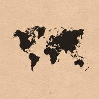 Servietten 33x33 cm - World Map