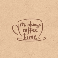 Servietten 33x33 cm - Always Coffee