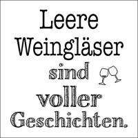 Servietten 33x33 cm - Leere Weingläser
