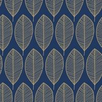 Servietten 33x33 cm - Oval Leaves Royal Blue/Gold