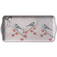 Tablett - Bird On Branch Grey