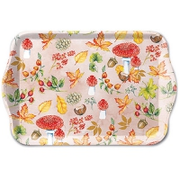 Tablett - 13X21cm Autumn Pattern