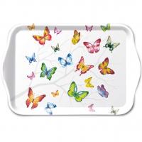 Tablett - Colourful Butterflies