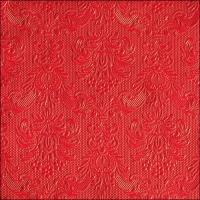 Servietten 40x40 cm - Elegance Red