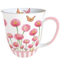 Porzellan-Tasse MUG 0.4 L BELLIS ROSE