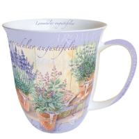 Porzellan-Henkelbecher Mug 0.4 L Lavendular