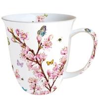 Porzellan-Henkelbecher Blossom