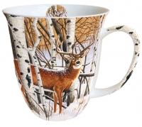 Porzellan-Henkelbecher Mug 0.4 L Deer In Forest